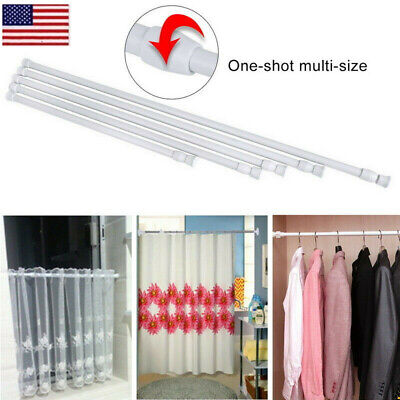 Extendable Telescopic Net Spring Loaded Voile Tension Curtain Rail Pole Rods OCC ()