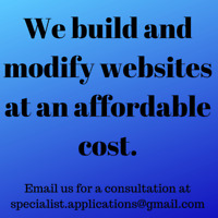Create or modify your website for an affordable price!