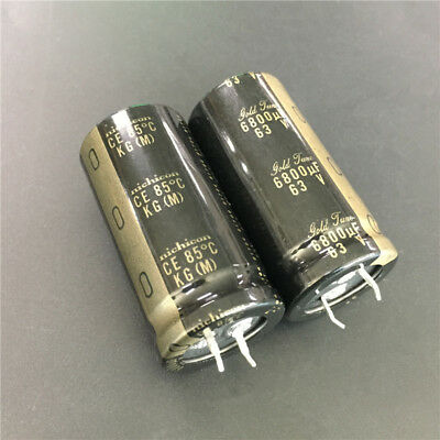 2pcs 6800uf 63v Nichicon Kg 25x50mm 63v6800uf Gold Tune Hifi Audio Capacitor