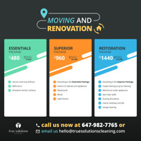 Home & Office Moving/Reno/Carpet Cleaning - Fast Availability