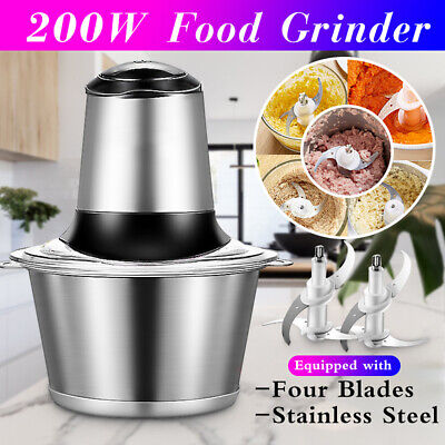 200w Electric Meat Grinder Stainless Sausage Maker Vegetable Cutter Knife Cover