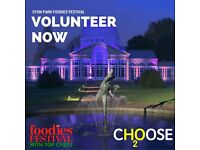 Volunteers needed for Syon Park Foodies Festival. 27th-29th May
