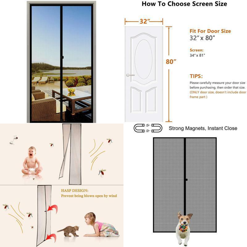 Magzo Screen Door Magnets 32 X 80, Durable Fiberglass Door M