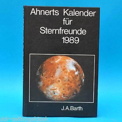 Kalender für Sternfreunde 1989 | Ahnerts DDR | Astronomisches Jahrbuch | Barth B