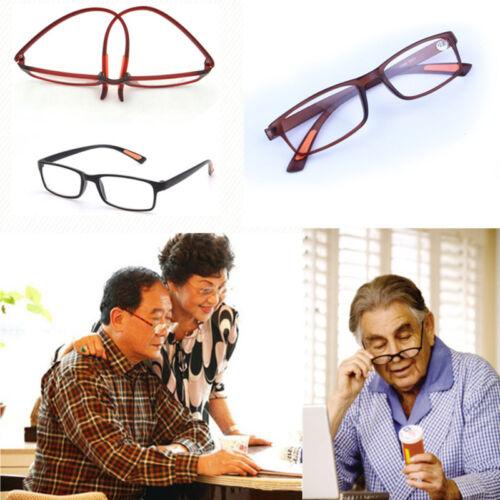 Unisex TR90 Flexible Square Full Frame Reader Reading Glasses +1.00 ~ +4.00