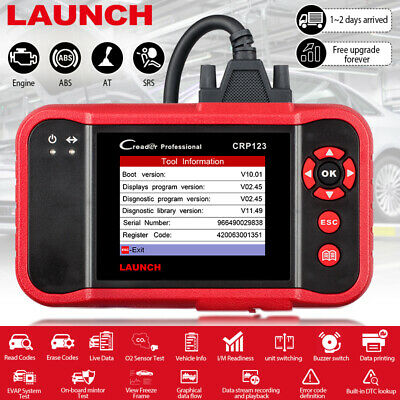 LAUNCH CRP123 Car OBD2 Diagnostic Scanner Tool Check Transmission ABS SRS Engine