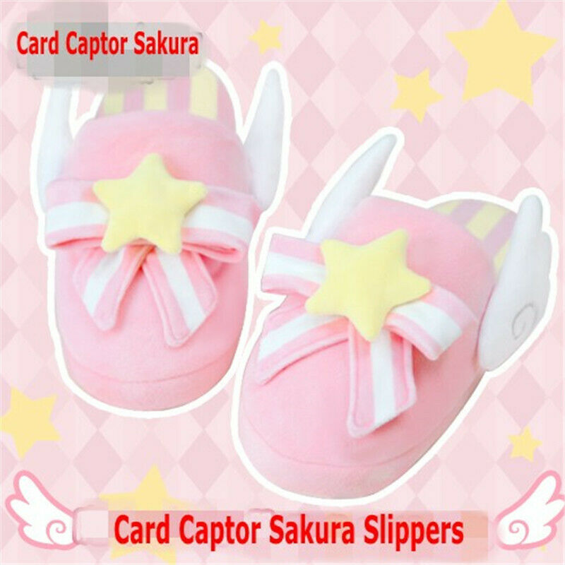 Card Captor Sakura Winter Indoor Warm Girls Home Plush Cartoon Cotton Slippers