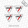 4x Koni Shock Absorbers classic sport restoration sticker decal vinyl set