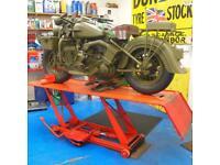 Harley-Davidson Classic Vintage Wooden, Next To Kawasaki Z1 900, You Must See