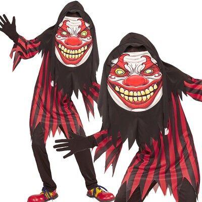 Creepy CLOWN Kinder Kostüm Gr. 158 (11-13 Jahre) Big Face Halloween - Creepy Clown Kind Kostüm