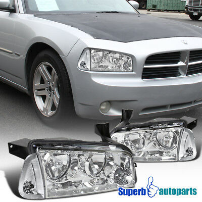 For 2006-2010 Dodge Charger Headlights Replacement w/ Corner Lamps