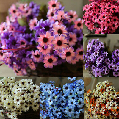 24 Heads Artificial Fake Daisy Flower Bouquet Wedding Party Home Decor DIY