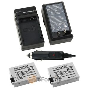 2-LP-E8-Battery-Charger-for-Canon-Rebel-T2-T3i-T2i-Kiss-X5-X4-EOS-550D-600D