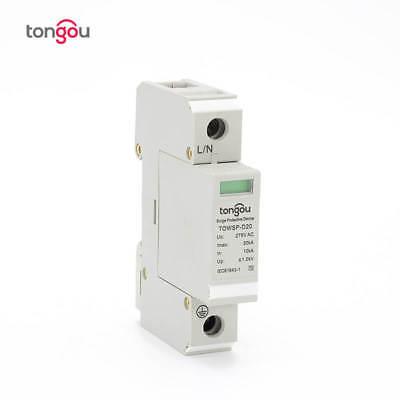 Tongou 1p 10ka20ka Surge Protection Device Spd Lightning Arrester Protection