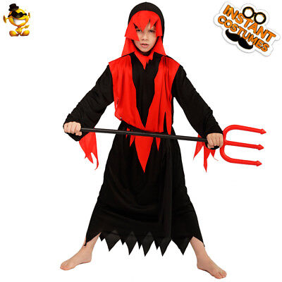Devil For Halloween Kids (Kids Boys Horror Devil Ghost Costumes Evil Demon Killer Sets for Halloween)