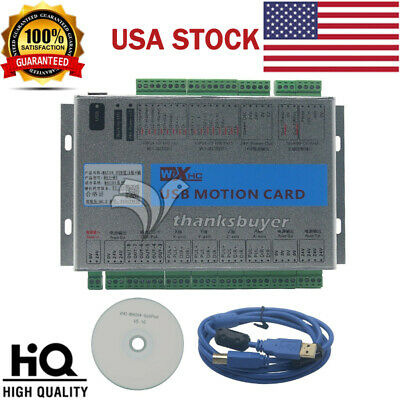 Usb 2mhz Mach4 Cnc 4 Axis Motion Control Card Breakout Board For Machine Usa