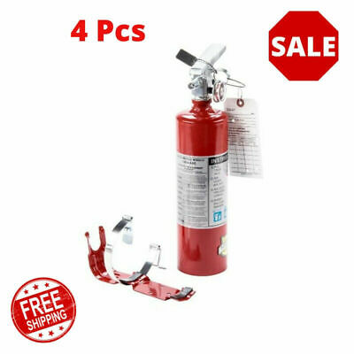 4 Pcs 2.5 Lb Fire Extinguisher Abc Dry Chemical Rechargeable Dot Vehicle Bracket