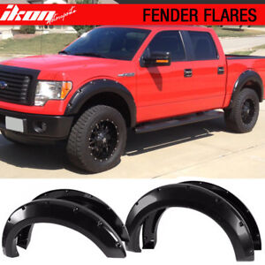 09-14 Ford F150 4pc Textured Pocket Style Black Fender Flares