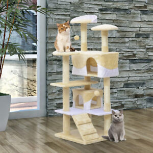 PawHut - 52inch Multi-Level Tower Cat Tree Condo - Brand New