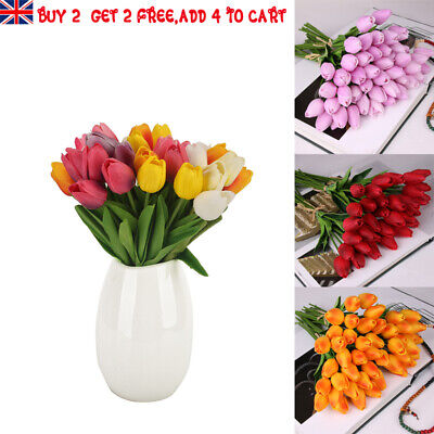 Artificial Tulips Flowers Vivid Mini Fake Fleur Home Bouquet Wedding Decor