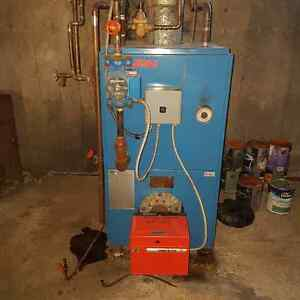 Hot water  furnace with hot water