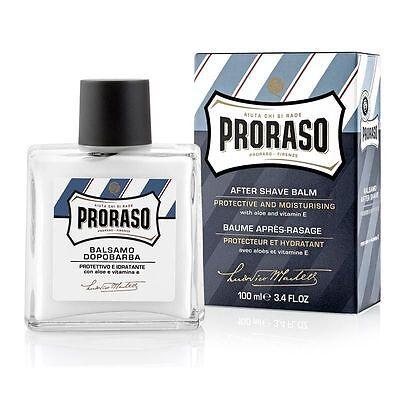 Proraso Protective and Moisturising Aftershave Balm Blue 100ml Aloe/Vitamin E