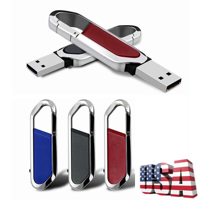 2TB Swivel Metal USB 2.0 Key Chain Flash Drive Memory Stick