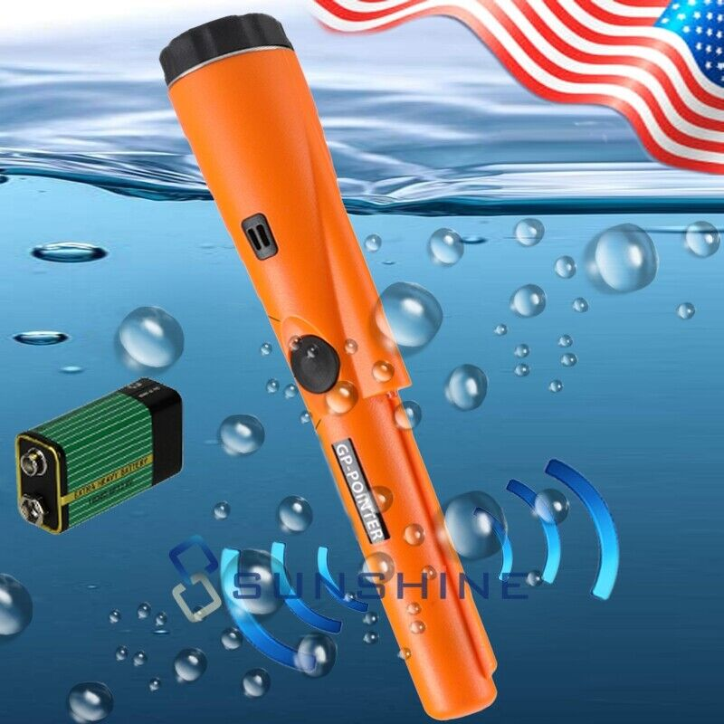 Fully Waterproof Pinpoint Metal Detector Pinpointer - 360°Search Treasure Finder