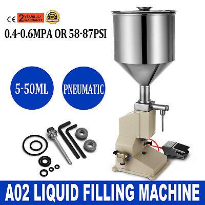 A02 Pneumatic Liquid Paste Filling Machine 550ml Shampoo Equipment Bottling