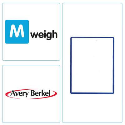 Avery Berkel -  58 x 76 Thermal Scale Label - White Blue Border -  6,000 Labels