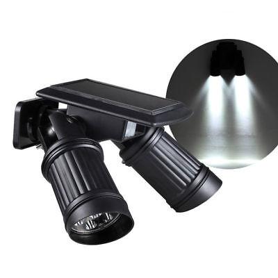 14 LED Dual Head Solar Powered Yard Lights PIR Motion Sensor Spotlight Wall - Double Lamp Spotlight