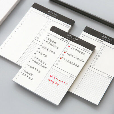 Daily Planner Memo Pad Message Sticky Notes Self Adhesive To Do List Schedule Cn