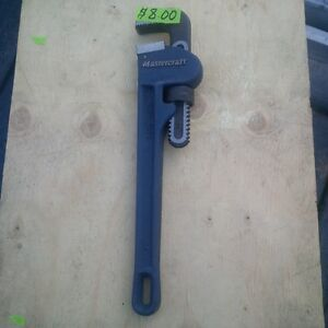 """MASTERCRAFT 14 """"  HEAVY DUTY PIPE WRENCH IN VERY GOOD CONDITION"""