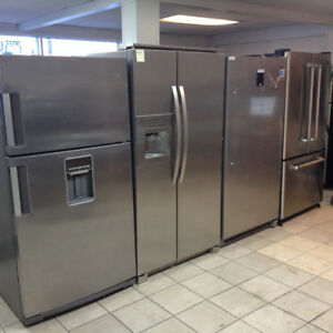 ASSORTED STAINLESS STEEL FRIDGES-  1 YEAR WARRANTY