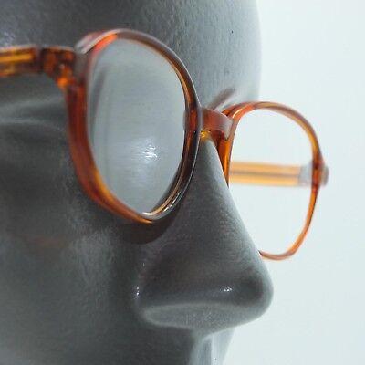 Reading Glasses Caramel Polished Octagon Vintage Style +3.00 Lens Strength