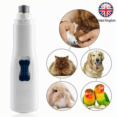 Electric Pet Nail Grinder Claw Grooming Trimmer Dog Cat Paws Clipper Tools