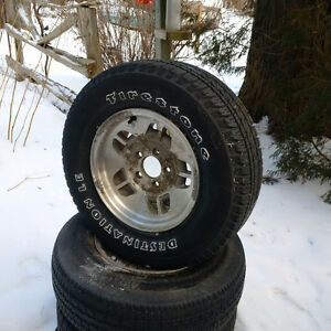 Good Summer Tires on Alloy Rims for Sale Peterborough Peterborough Area image 1