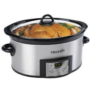 6 qt DIGITAL Crock Pot slow cooker (reg $80+tx)