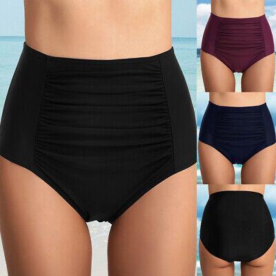 Damen Shorts Hohe Taille Swim Bikini Wrinkle Bademode Kurze Pants Hose KUS