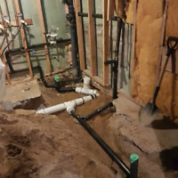 PLUMBING ROUGH IN WASHROOM BASEMENT BY CODE 647 740-8220 SUMPPUM