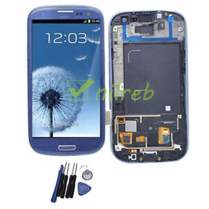 Blue Samsung Galaxy S3  LCD Touch Digitizer Screen Replacement