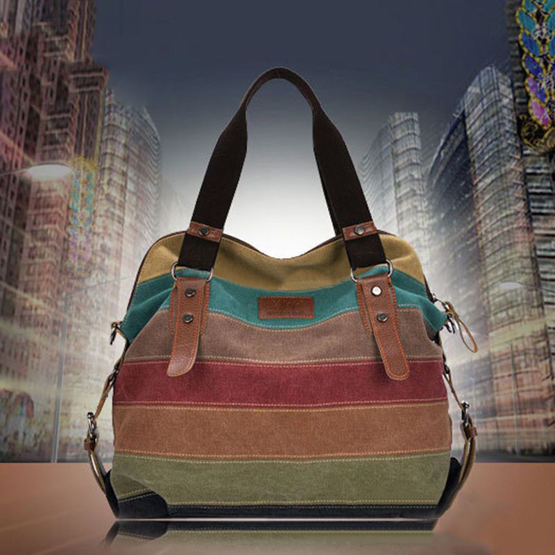 Bag - Fashion Women Shoulder Bag Satchel Crossbody Tote Handbag Purse Messenger Canvas