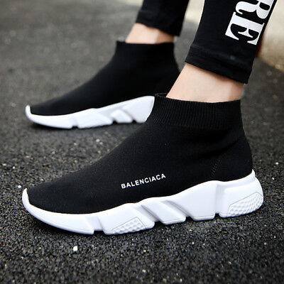 Mesh Men Sneakers - Men Athletic Walking Shoes Mesh Walk Sports Sock Sneakers Breathable Running