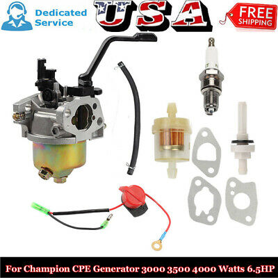Carburetor For Cpe 3000 3500 4000 Watts 6.5hp Champion Power Equipment Generator