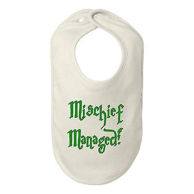 Beegeetees Mischief Managed Bib Funny Baby Shower Gift