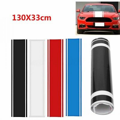 1x Car Decal Vinyl Graphics Stickers Hood Dual Racing Stripe For Mustang 4 Color
