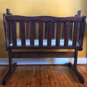Over-Sized Wooden Baby Cradle