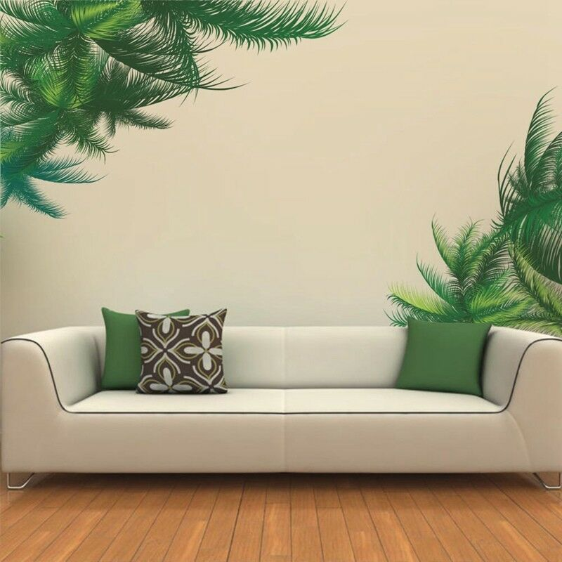 Home Decoration - Tree Green Leaf Wall Sticker TV Living Room Decor Plant Mural Art DIY Home Decal