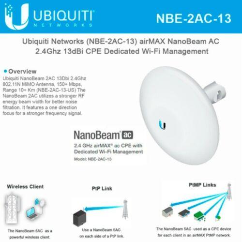 Ubiquiti NBE-2AC-13  AirMax NanoBeam 2AC, 13 dBi International Version