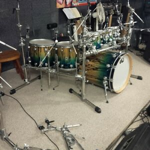 8 Drum racks DW, PDP, Pearl, Gibraltar 2 sided, 3 sided, 4 sided